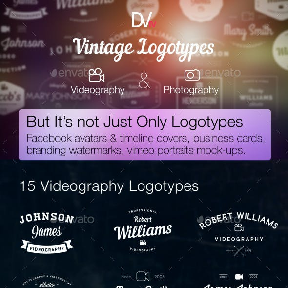 Videography and Photography — Vintage Logotypes