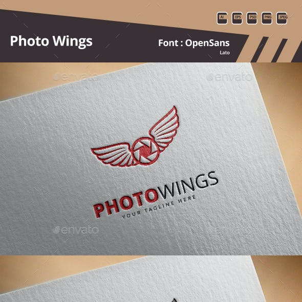 Photo Wings Logo Template