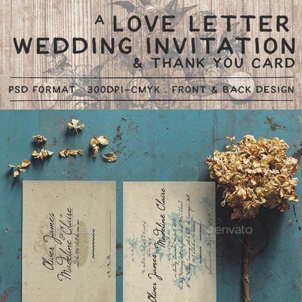 Love Letter Wedding Invitation