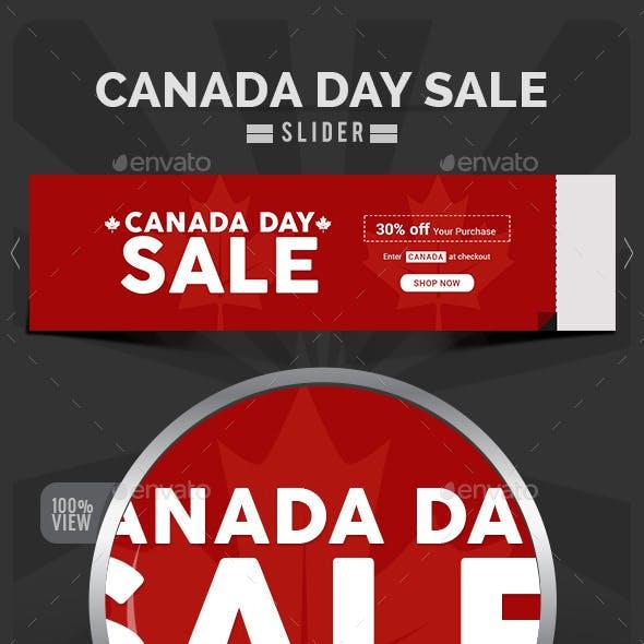 Canada Day Sale Slider