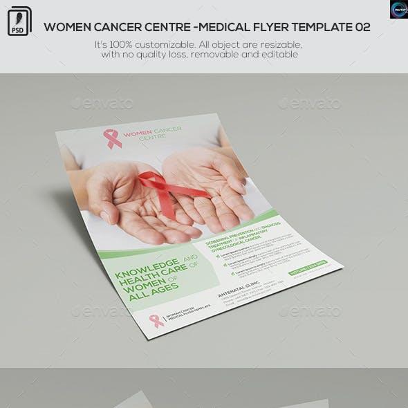 Women Cancer Centre - Medical Flyer Template 02