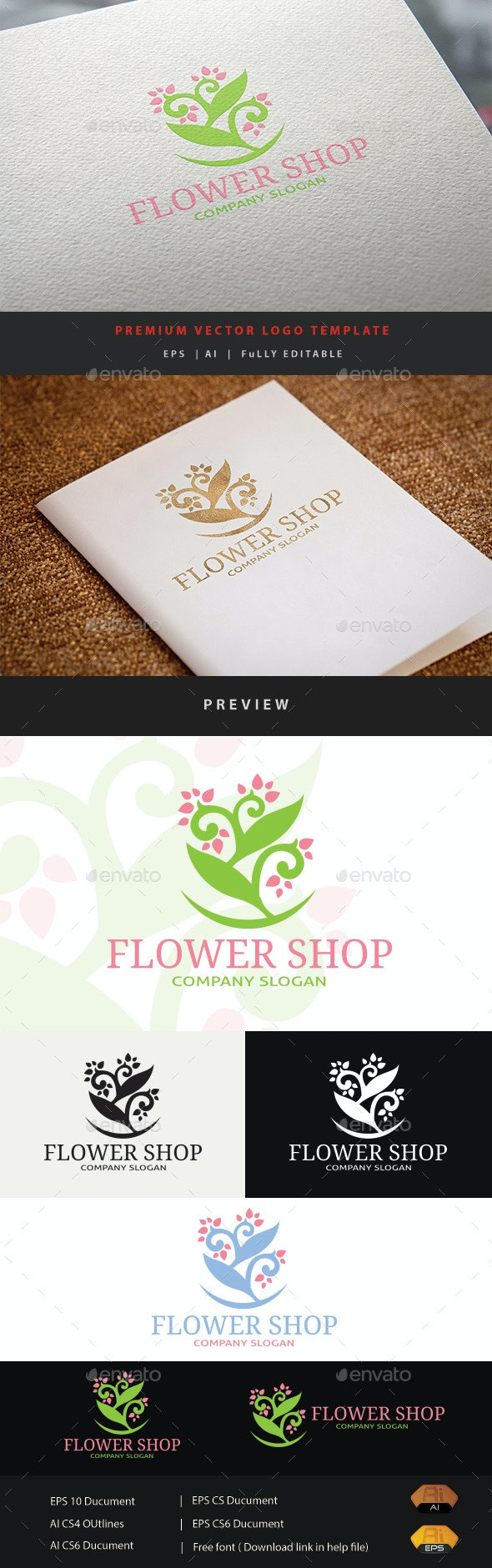 Flower Shop - Nature Logo Templates