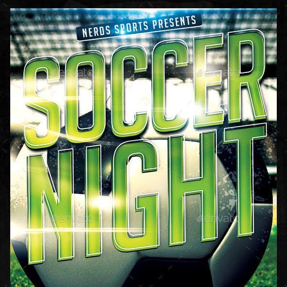 Soccer Night Sports Flyer