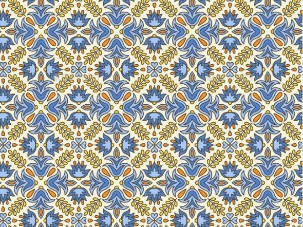 Mediterranean Traditional Floral Decor.  - Patterns Decorative