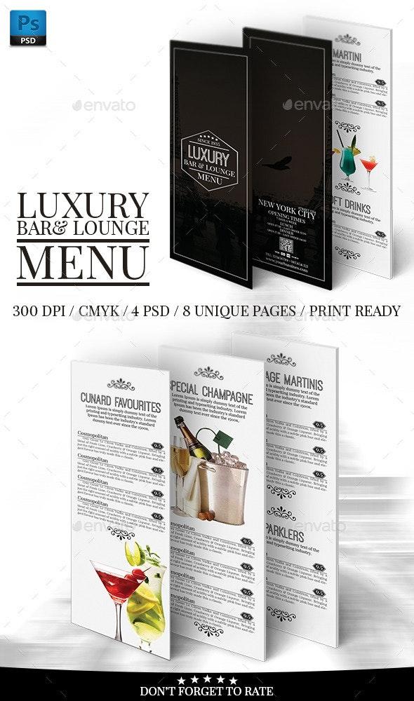 Luxury Bar&Lounge Menu Volume 2 - Food Menus Print Templates