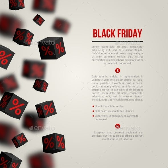 Black Friday Sale Poster. Vector Illustration.
