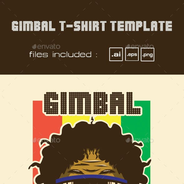 Gimbal T-shirt Template