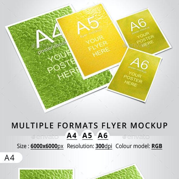 Multiple Formats Flyer Mockup A4 A5 A6