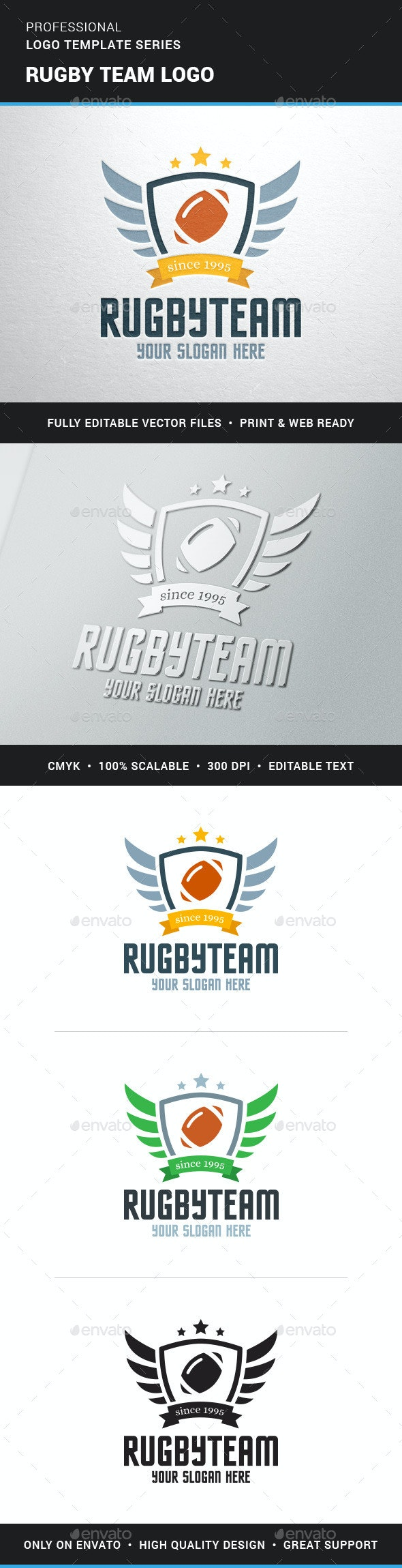 Rugby Team Logo Team - Crests Logo Templates