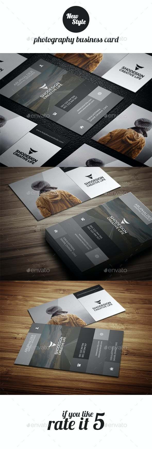 Photography Busienss Card Template - Business Cards Print Templates