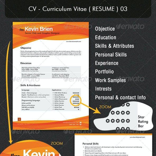 CV - Curriculum Vitae ( RESUME ) 03