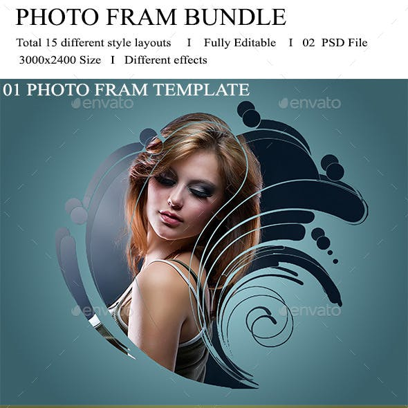 Photo Frame Template Bundle V-01