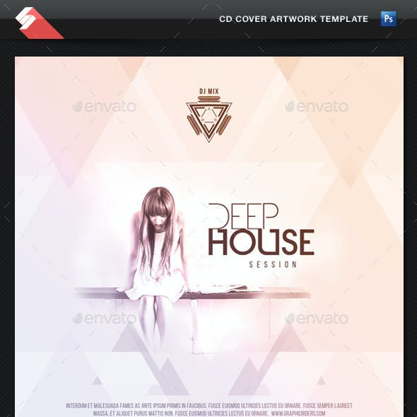 Deep House Session - CD Cover Template
