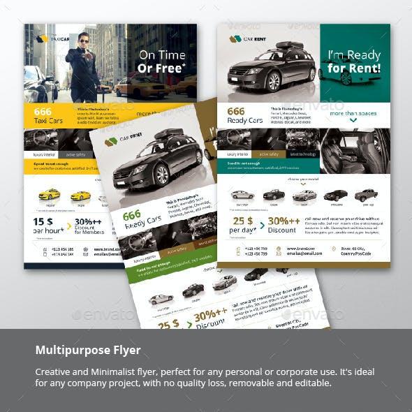 Automotive - Car - Taxi Flyer