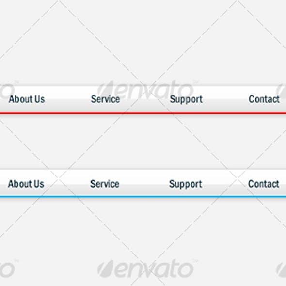 Stylish Web Navigation Menu.