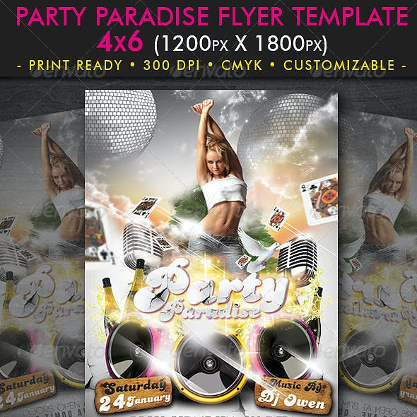 Party Paradise Flyer Template