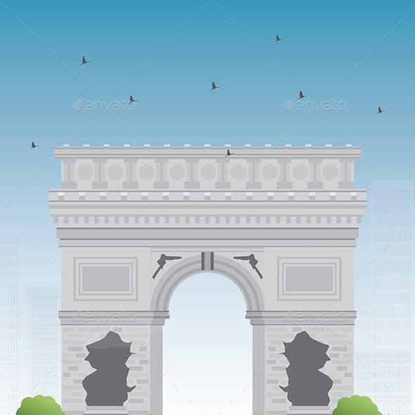 Arch of Triumph. France Paris.