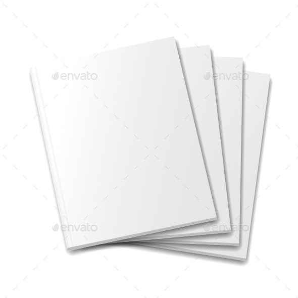 Blank Covers Mockup Magazine Template On White - Concepts Business
