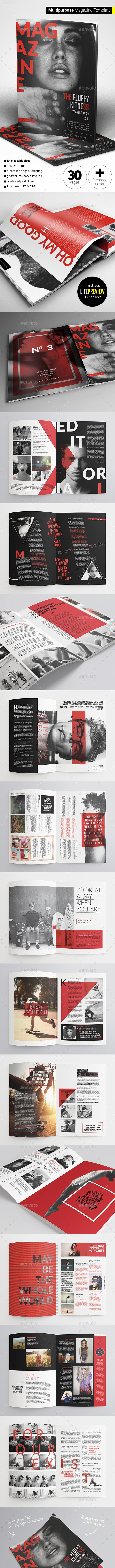 30 Pages Multipurpose Magazine - Magazines Print Templates