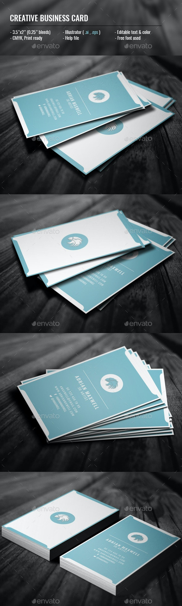 Creative Vertical Business Card - Creative Business Cards