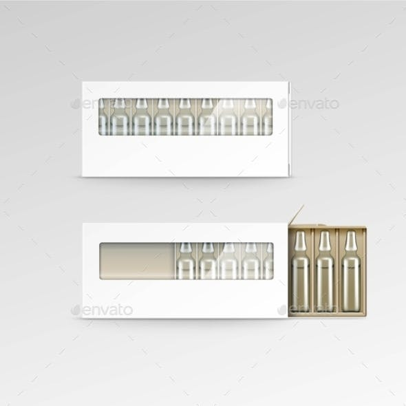 Blank Packaging Box for Ampoules
