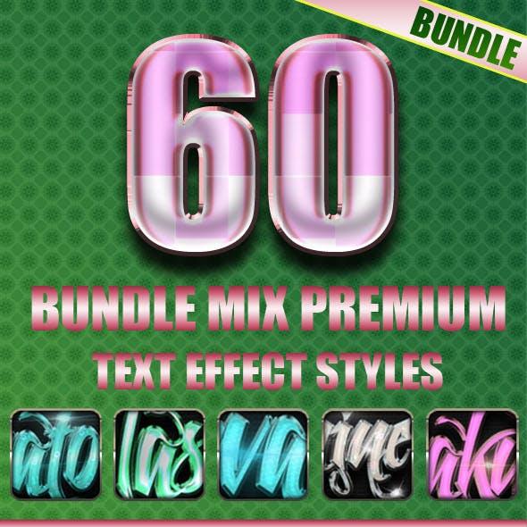 60 Bundle Mix Premium Text Effect Styles