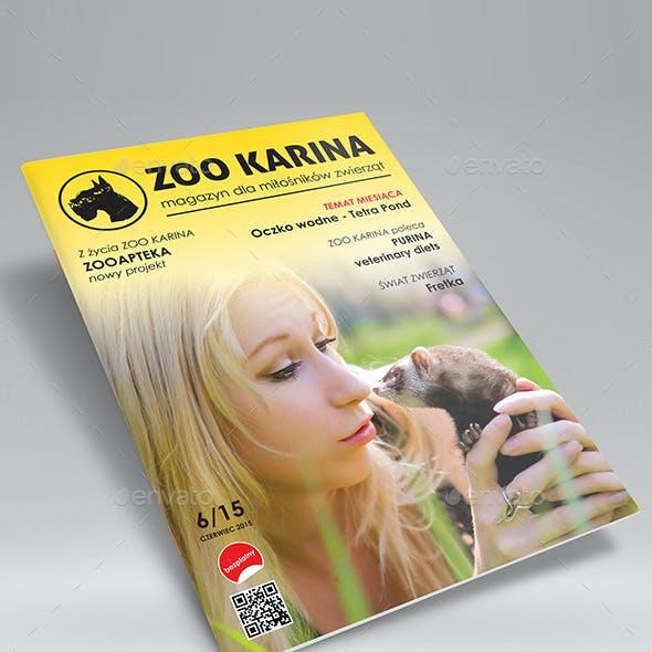 A4 Folded Magazine Mockup