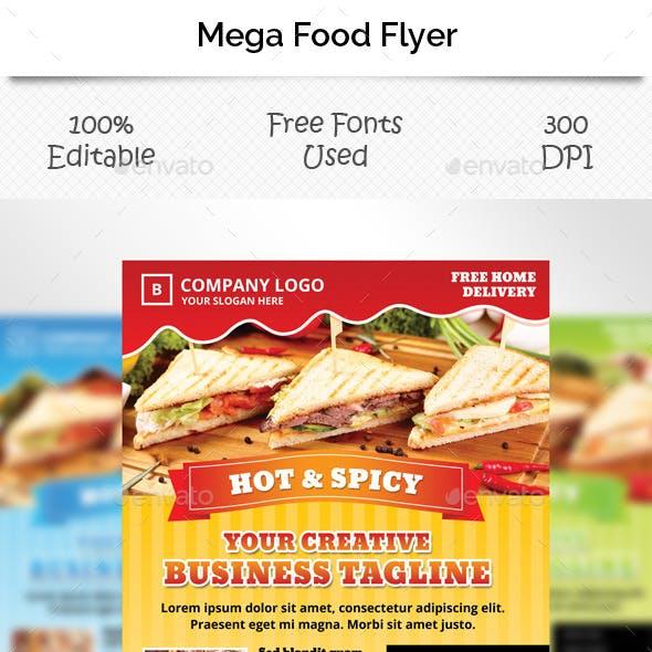 Mega Food Flyer Template