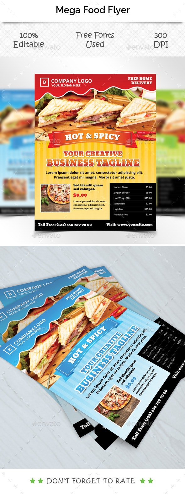 Mega Food Flyer Template - Restaurant Flyers