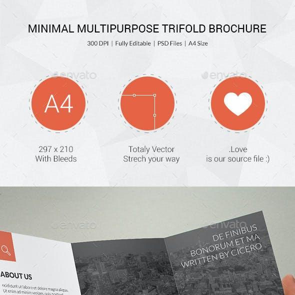 Minimal Multipurpose Trifold Brochure - 09