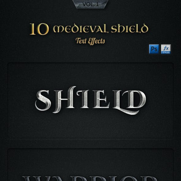 Medieval Shield Text Effects Vol1