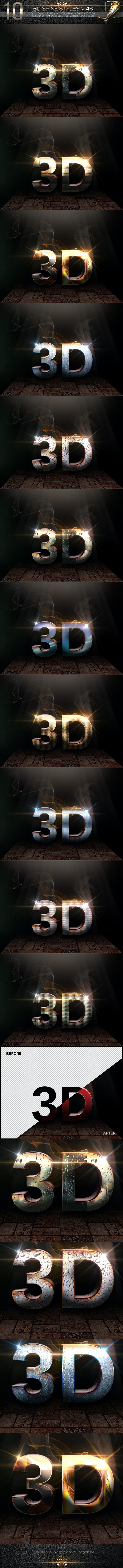 10 3D Text Styles V.46 - Text Effects Styles