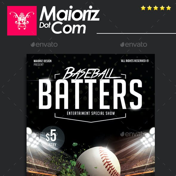 Baseball Scored Flyer Template