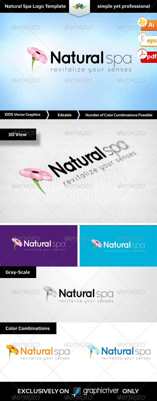Natural Spa Logo Template - Nature Logo Templates
