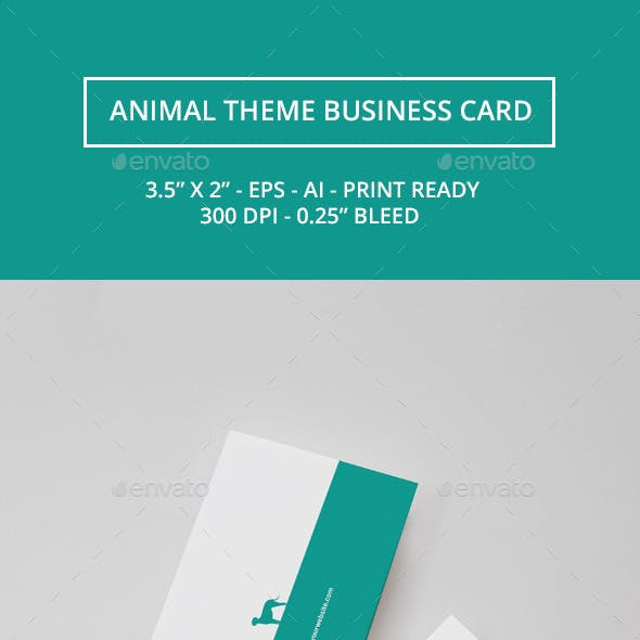 Animal Theme Business Card