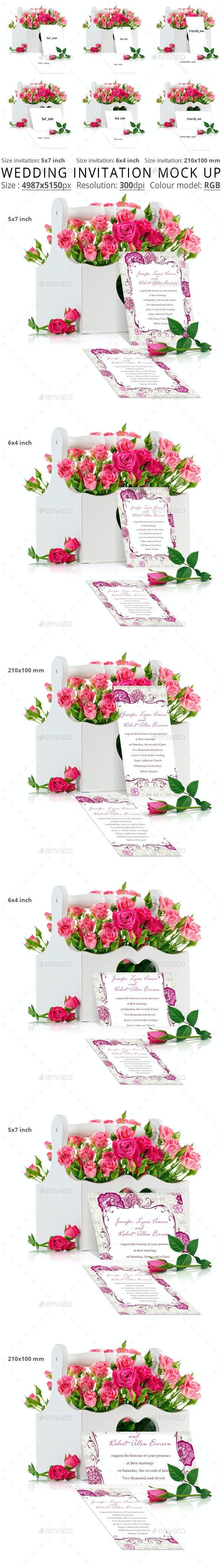 Wedding Invitation Mock Up - Flyers Print