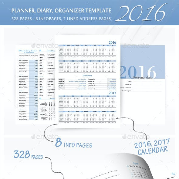 Planner-Diary-Organizer 2016