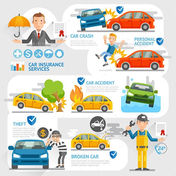 Car Insurance Business Character Template.