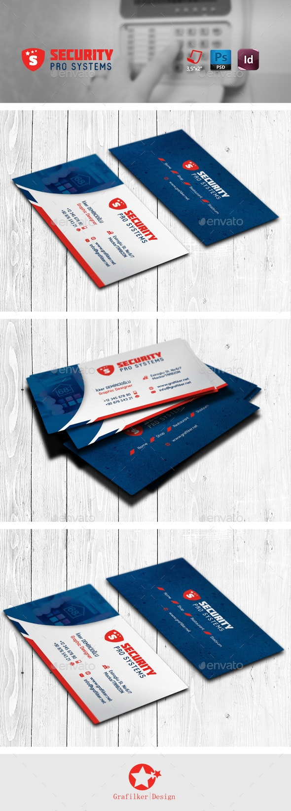 Security Business Card Templates - Corporate Business Cards