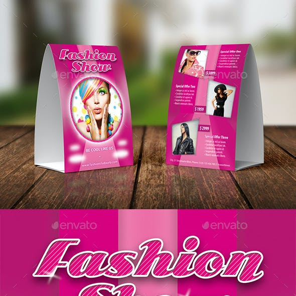 Fashion Collections Table Tent Template 15