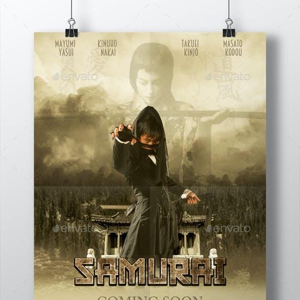 Samurai Movie Poster, 8.5x11