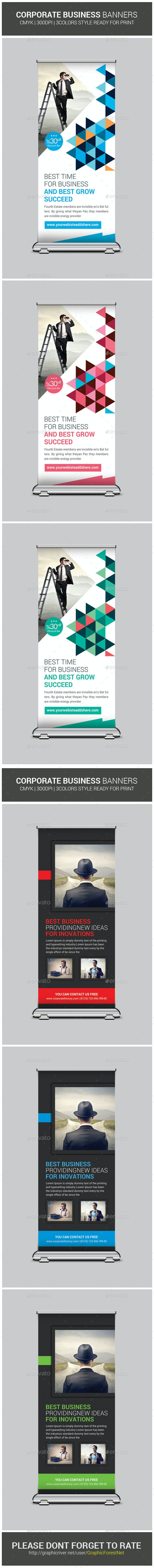 Multipurpose Roll-Up Banners Bundle - Signage Print Templates