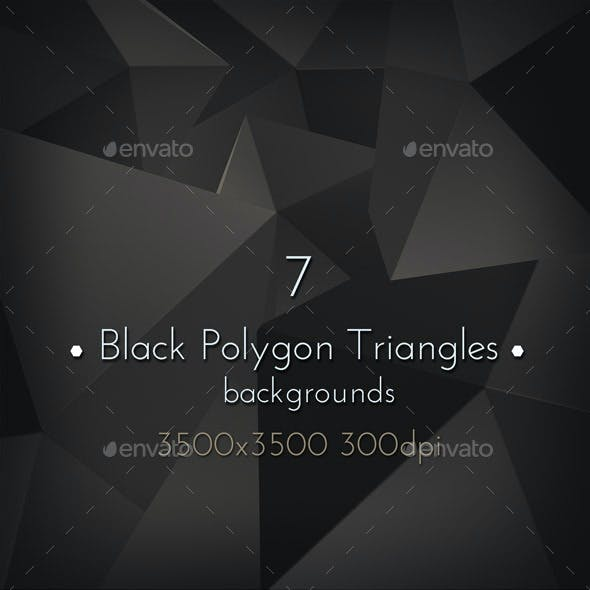Black Polygon Triangles Background