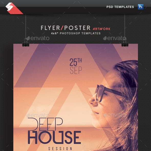 Deep House Session 3 - Event Flyer Template