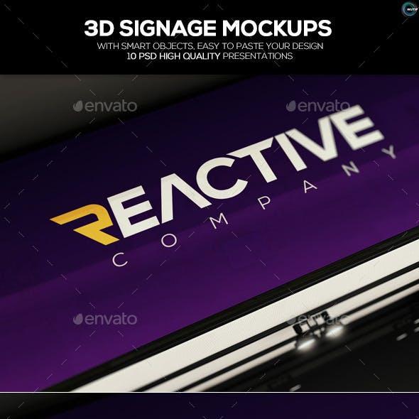3D Signage Mockups