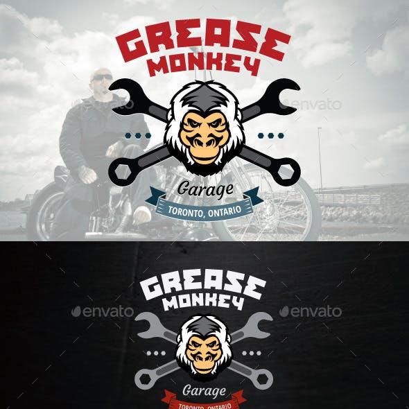 Mechanic or Motorcycle Shop Vector Logo