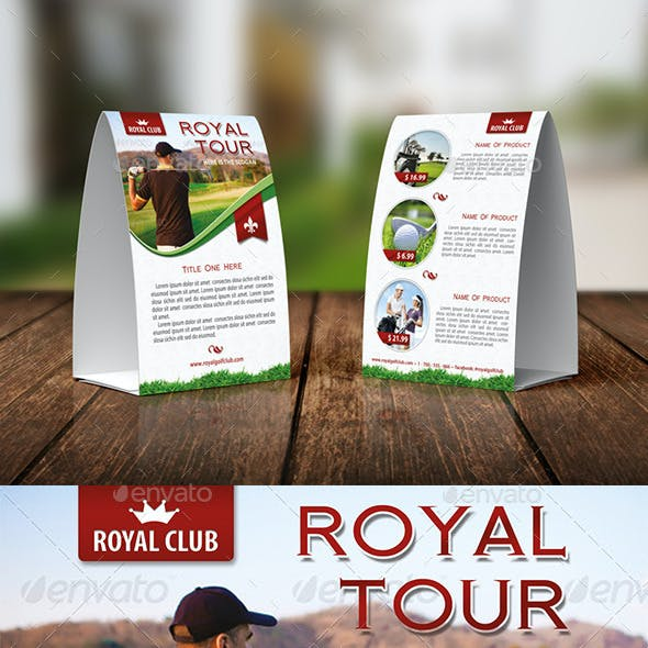Golf Tournament Table Tent Template 08