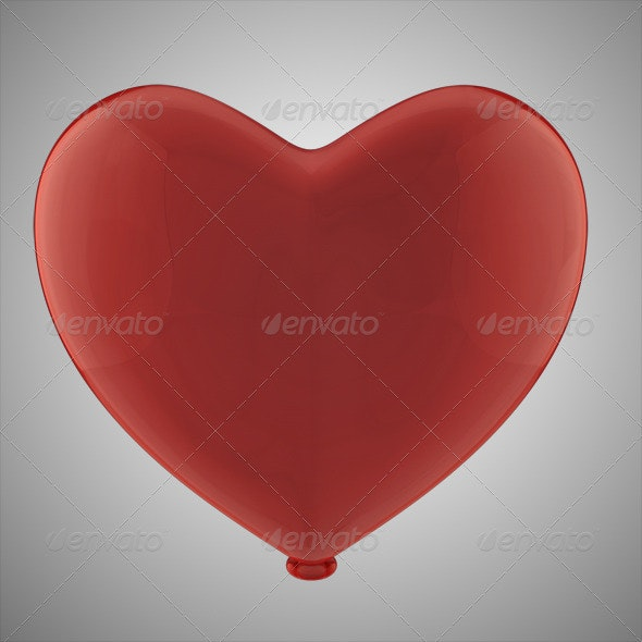 Heart Balloon (Layered)  - 3D Renders Graphics