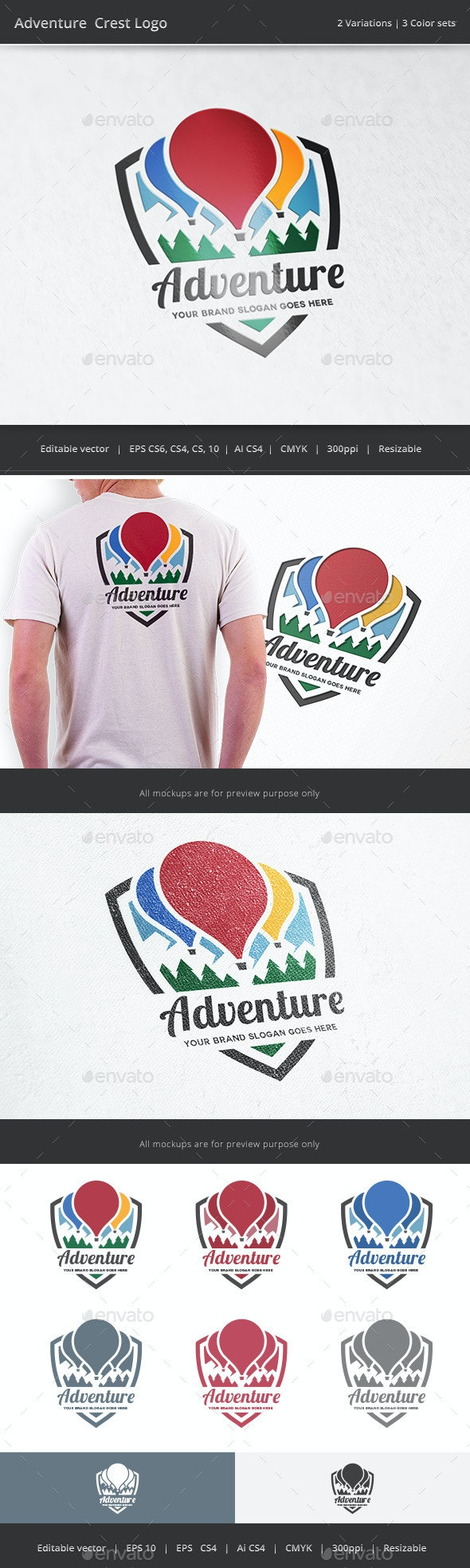 Adventure Crest Logo - Crests Logo Templates
