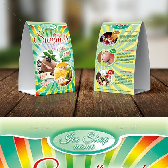 Ice Shop Table Tent Template 05